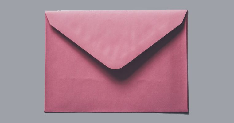 Envelope for a therapeutic letter from a foster carer