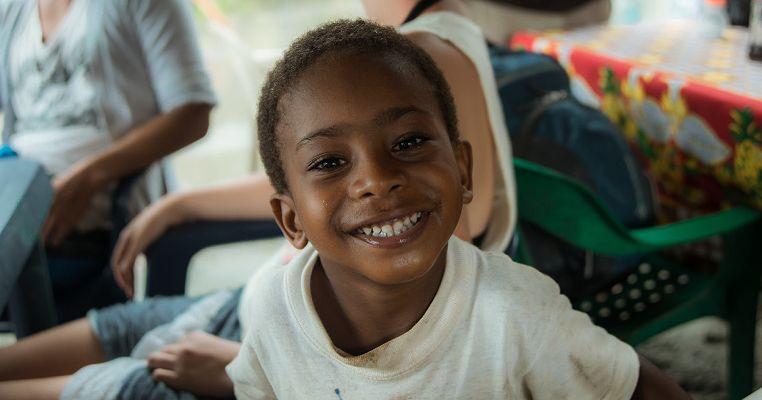happy foster kid